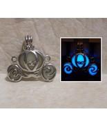 GLOW IN THE DARK Enchanted Princess Carriage Cinderella Charm Pendant Ne... - $15.00