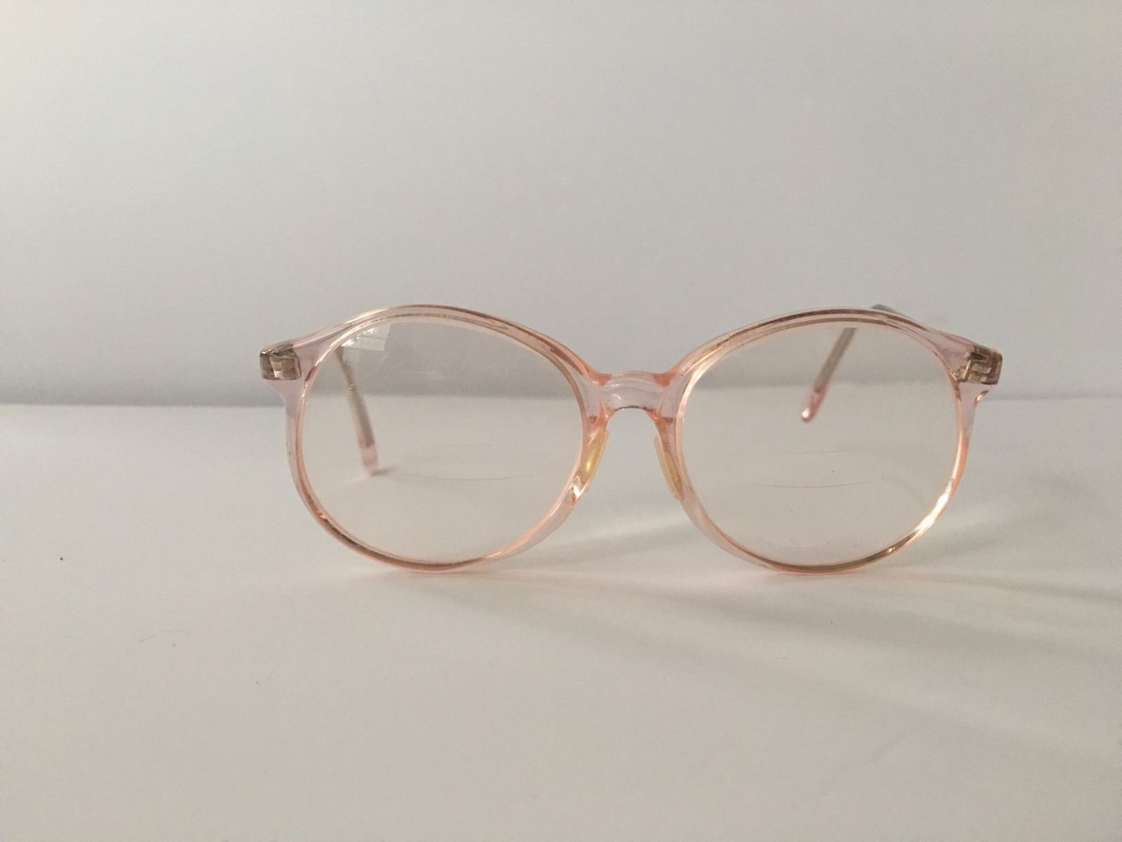 Eyeglass Frames Made In The Usa : Vintage Hipster Peach Eyeglasses by Pathways Optone Made ...