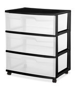 College Dorm Supplies Drawer Cart 3 Wide Storag... - $30.54