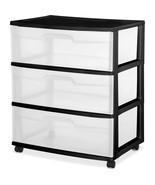 College Dorm Supplies Drawer Cart 3 Wide Storag... - $30.54