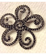 Sterling Silver Marcasite Pin Brooch Flower - $19.59