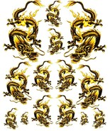 Rockabilly Tattoo Art Guitar Dragon Waterslide Decal 6   #50 - $9.85
