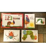 Eric Carle 1 2 3 Board Game & 4 Books-Rooster's Off To See The World Bus... - $11.87