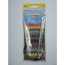 PRYM  212176 Circular knitting needles, 100cm, 5.50mm, silver-coloured,b... - $18.28 CAD