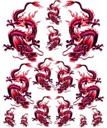 Rockabilly Tattoo Art Guitar Dragon Waterslide Decal 3  #47 - $9.85