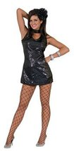 Disco Dress Adult Black Medium - $33.33
