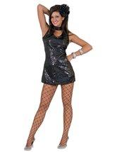 Disco Dress Adult Black Large - $33.33
