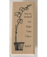 You're Invited RSVP Rubber Stamp Wood Mounted by Stampendous - $8.33