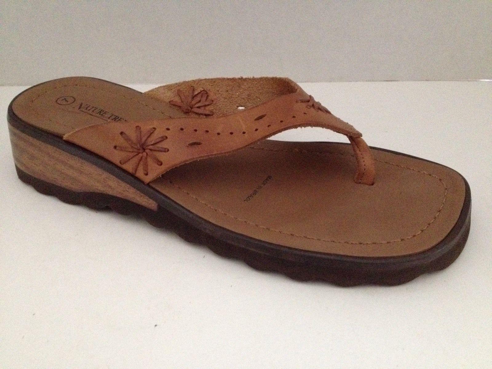 Nature Trek Sandals Womens Size 7 Shoes Tan Flip Flops -7760
