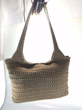The Sak Brown Crochet Shoulder Bag Handbag Purse - $35.77