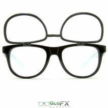 Matrix Diffraction Grating 3D Holographic Glasses Durable Hard 4X Lens EDM Rave - $19.99