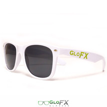 White sunglasses edm festival eyewear new USA quality tough hinges USA - $11.99