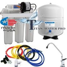 RO Reverse Osmosis Water Filter System - Permeate Pump 100 GPD 10 G RO Tank - $157.41
