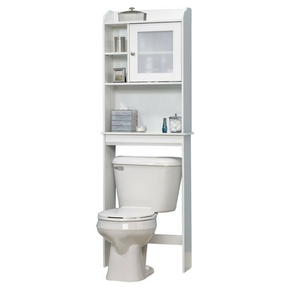 Over the toilet cabinet bathroom storage furniture free for Over the toilet cabinet