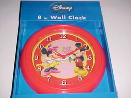 East West Disney Mickey Minnie Mouse Love Red Pink 8 Inch Wall Clock New  - $19.78
