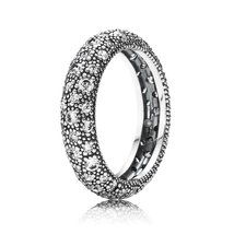 925 Sterling Silver Cosmic Stars with Clear Cz Ring For Women QJCB698 - $26.68