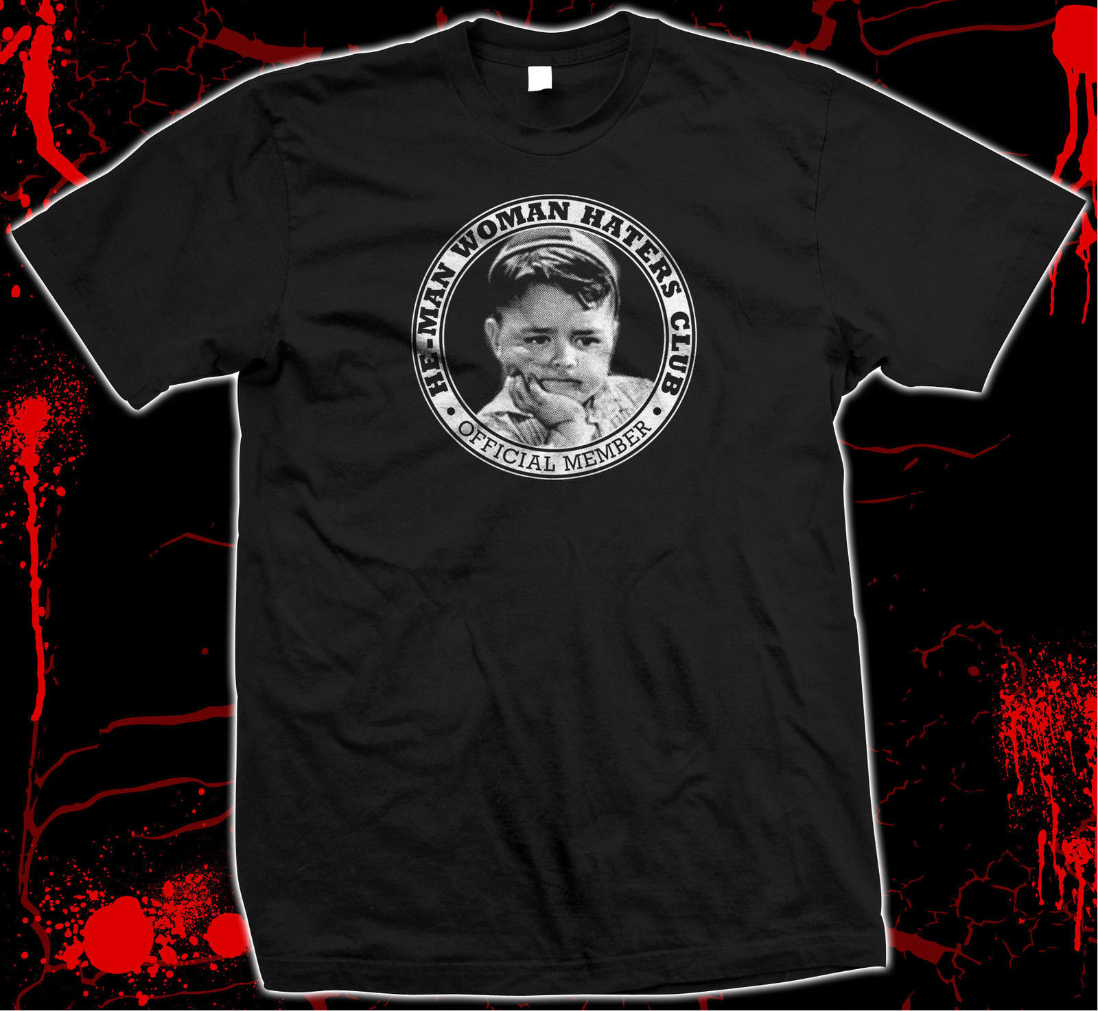 Our Gang - Spanky - He-Man Woman Haters Club - Hand-screened 100% cotton t-shirt for sale  USA