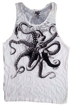 Yoga Men Tank Top octopus Ocean nature Sea Wild  Peace Hobo Boho  M RARE... - $12.86