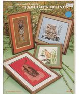Fabulous Felines Cross Stitch Patterns Wild Cat... - $5.49