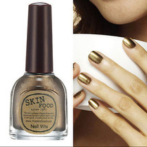 skinfood korea hit nail Polish Luxury cappuccino gold color manicure+gift - $7.00