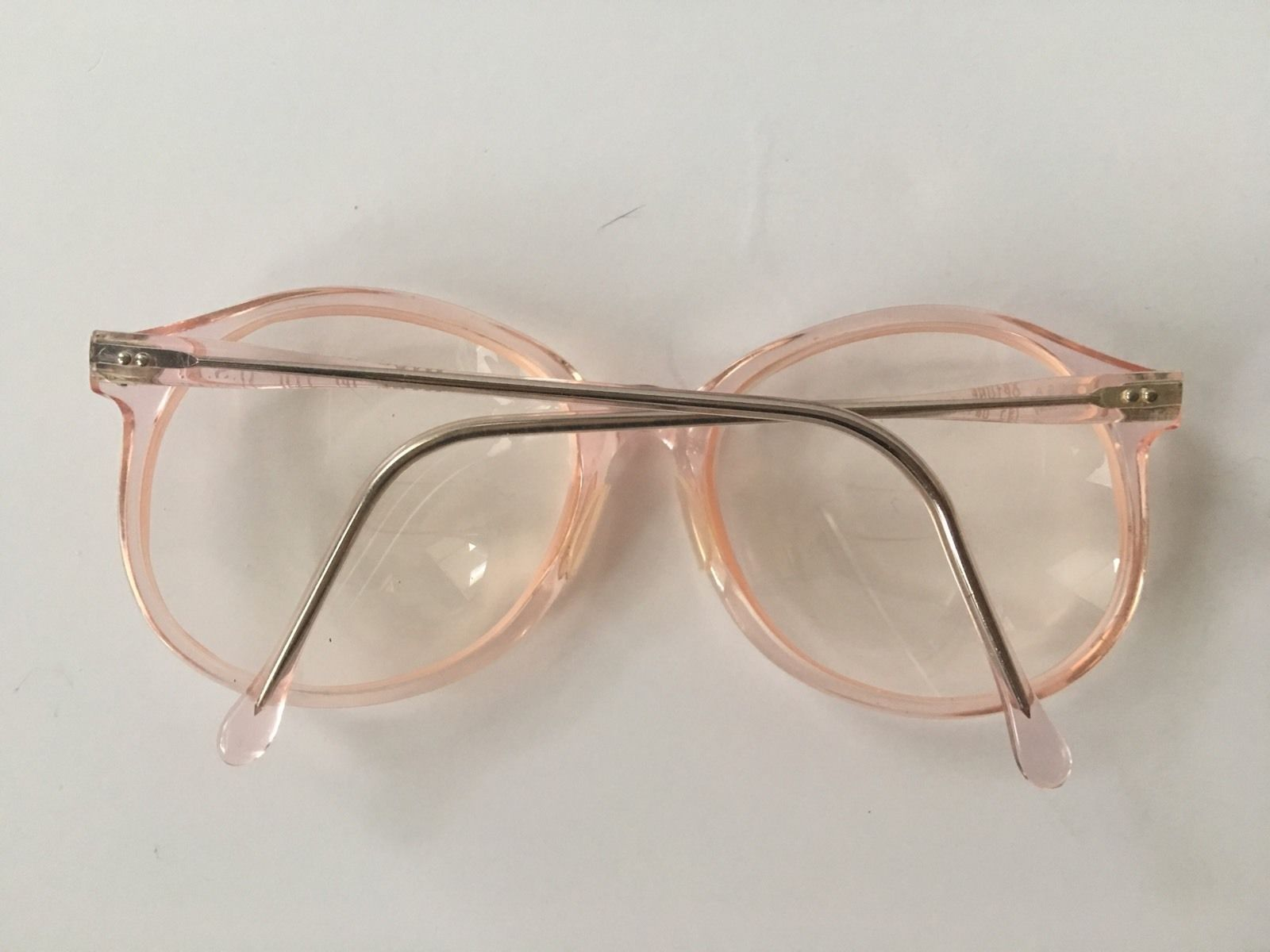 Vintage Hipster Peach Eyeglasses by Pathways Optone Made ...