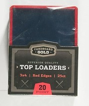 """1x 25ct Cbg Red Border Cardboard Gold 3"""" X 4"""" Pro Toploaders Keeps Cards Ultra P - $5.99"""