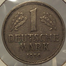 1950-J West German 1 Mark Coin #0078 - $1.99