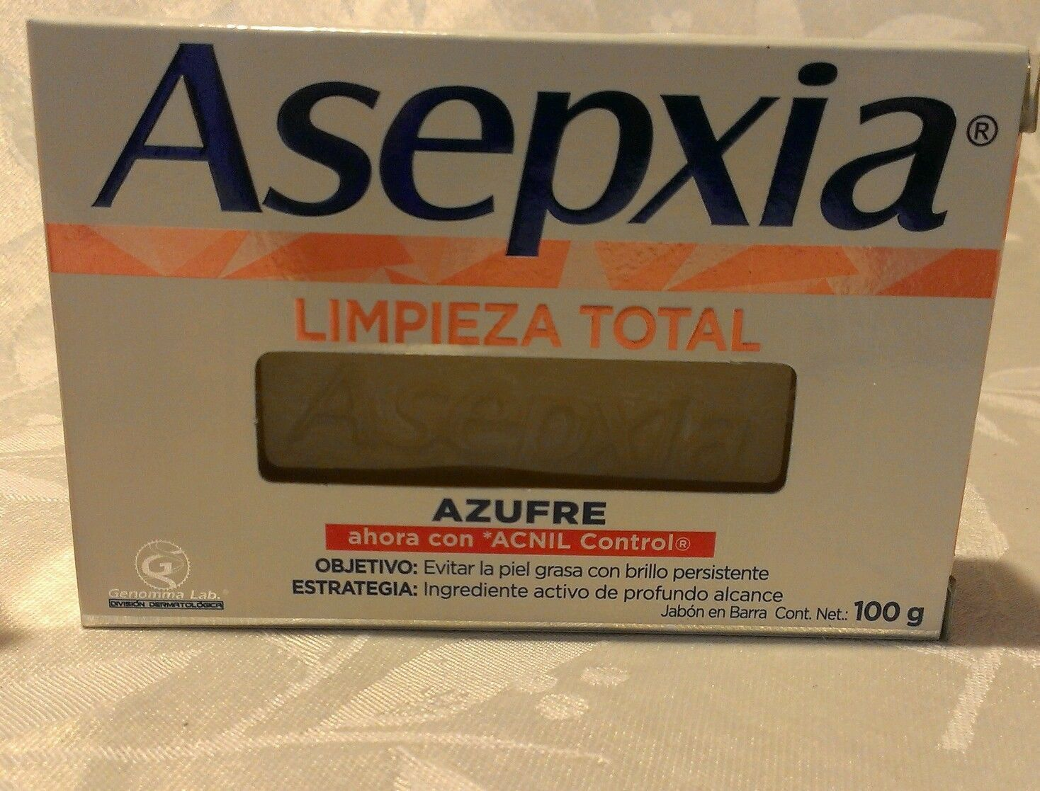 ASEPXIA AZUFRE 100g x 2 bars of acne fighting soap NEW FORMULA !!!!!