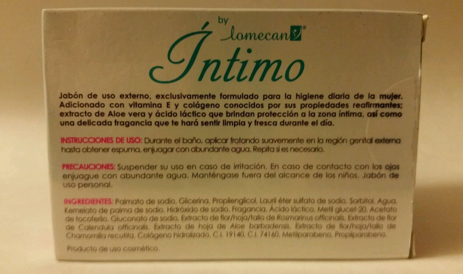LOMECAN Intimo {Firming///REAFIRMANTE } Soap///Jabon 2 x 100g { 2 Bars of soap } image 3