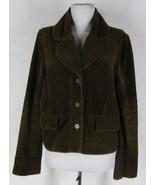 ELEVENSES Anthropologie Cotton Corduroy Jacket ... - $28.04