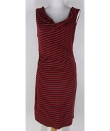 ANN TAYLOR LOFT Striped Ruched Wiggle Draped Co... - $28.04