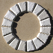 Keystone Paver Molds (12) Make 1000s Of Concrete Cobblestone Pavers 6x5x3x1.5""
