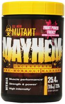 Mutant Mayhem Electric Energy Pre Workout Supplement, Fruit Punch Frenzy... - $33.84
