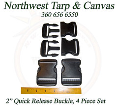 """Quick Release Buckle, 2"""" Acetal Plastic, 4 Pc. Set - Shipped from The USA! - $7.24"""