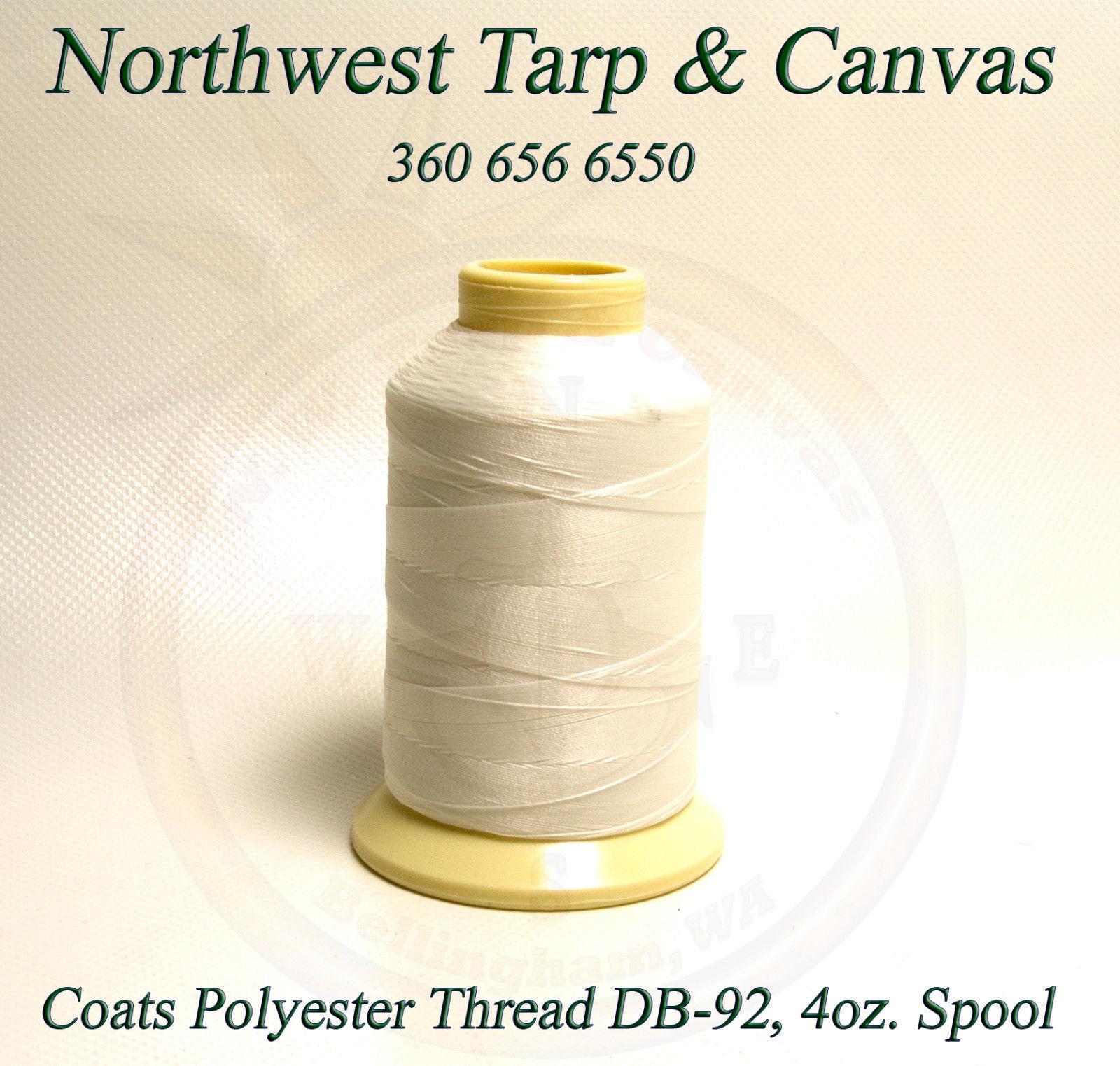 Thread, Polyester, Coats Bonded, Thread-4 oz. Spool, White, Size DB-92 T-90