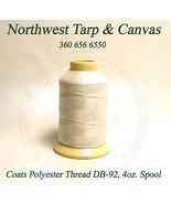 Thread, Polyester, Coats Bonded, Thread-4 oz. Spool, White, Size DB-92 T-90 - $24.29