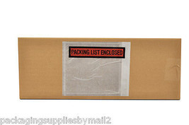 "5000 Packing list slip Holders Enclosed Pouch 4 1/2"" x 5 1/2"" Back side ... - $102.91"