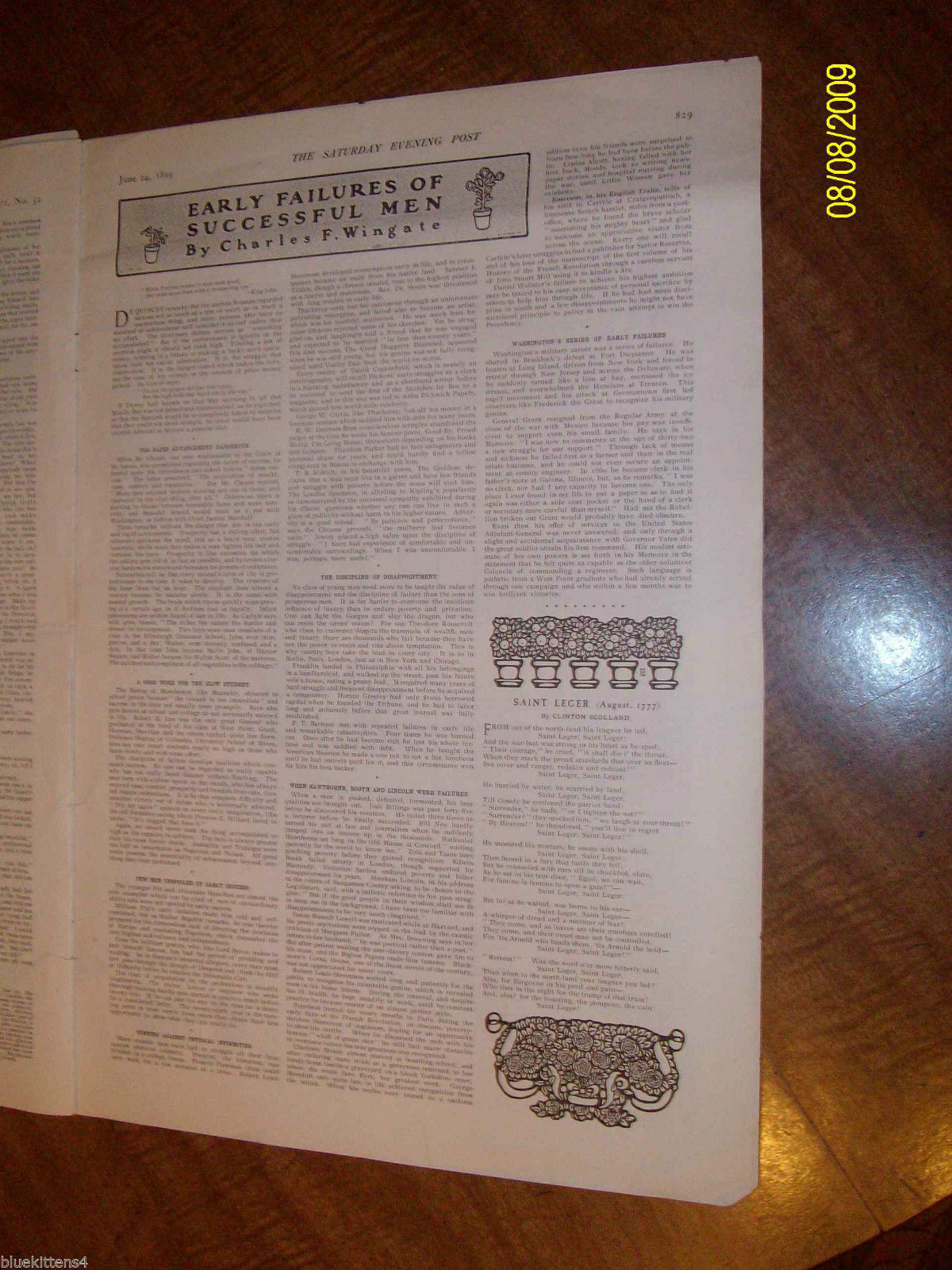 SATURDAY EVENING POST JUNE 24 , 1899 Excellent Illustrations Historical Ads Art