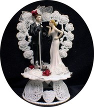 """Your My """"Hockey Honey""""  Player  Bride Wedding Cake Topper Grooms Top Sweet Kiss - $69.20"""