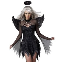 Halloween Costumes Zombie Stage Uniform with Wings   black - $31.78