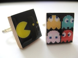 Pac-man Cuff Links ~ handmade by DandanDesigns - $11.65