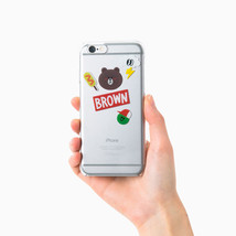 LINE Friends Character BROWN iPhone 6/6S Sticker Decor Case Phone Cover ... - $37.39
