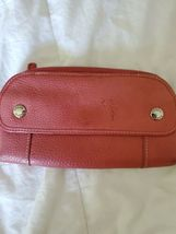 FOSSIL Zip Around Pebbled Leather Wallet Clutch Pink image 7