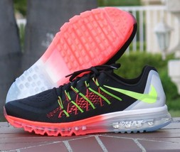 premium selection c4106 81ceb Nike Air Max 2015 Black Volt Hot Lava Running Shoes 698902 007 Mens Size 11  -