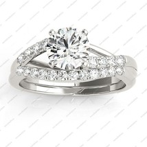 1.5 TCW Round Cut CZ 925 Sterling Silver White Platinum Plated Bypass Br... - $92.99