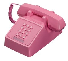 Retro Pink Phone Vintage Push Button Telephone Classic Landline Gifts Fo... - $79.99