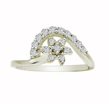 925 Sterling classic design cubic zirconia solid gemstone silver ring SR625 - £4.58 GBP