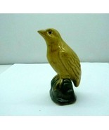 Vintage Chinese Porcelain SanCai Glaze Yellow Bird Figurine Small - $74.25