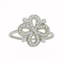 Pure 925 Sterling Silver with Cubic Zirconia Solid Gemstone Silver Ring ... - $10.39