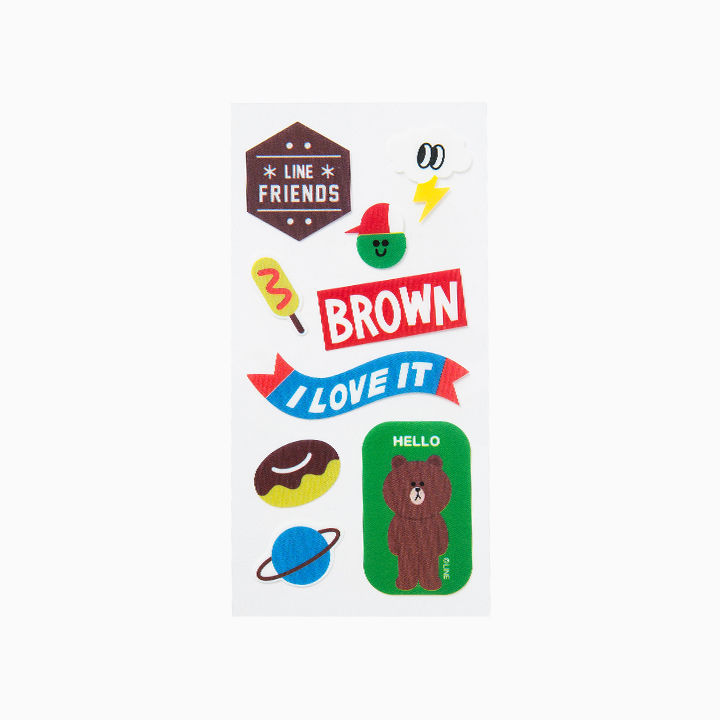 LINE Friends Character BROWN iPhone 6/6S Sticker Decor Case Phone Cover Mobile